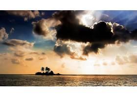239827,地球,岛,水,海洋,日落,树,云,天空,壁纸图片