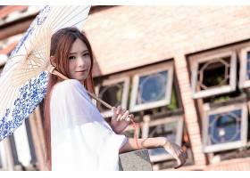 850646,女人,亚洲的,女孩,雨伞,微笑,夏天,壁纸图片