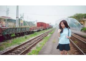 825261,女人,亚洲的,黑发女人,女孩,雨伞,壁纸图片