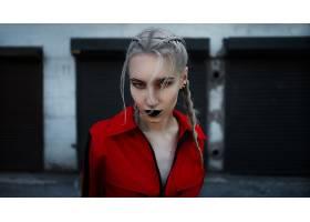 1035879,女人,模特,妇女,女孩,白色,头发,深度,关于,领域,口红,壁