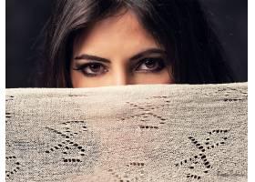 1018245,女人,脸,女孩,棕色,眼睛,模特,黑色,头发,凝视,壁纸
