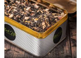 茶叶罐铁盒复古木纹包装海报背景样机素材