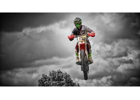 运动,摩托车越野赛,云,摩托车,壁纸图片