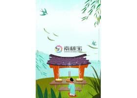 清明节祭祀背景素材图片