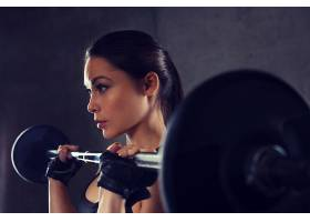 健身房里的美女