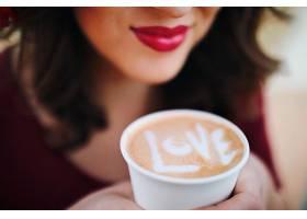 美女与白咖啡