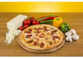 芝士蘑菇披萨
