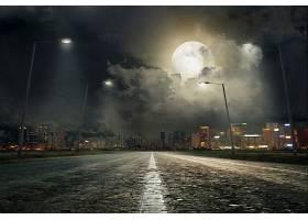 夜晚下公路