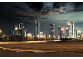 广场与建筑夜景