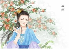 中国风手绘美女