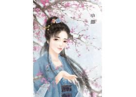中国风小雪手绘美女