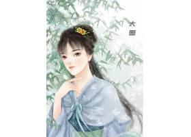 中国风大雪手绘美女