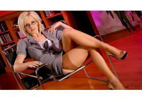 人,丝袜,高跟鞋,腿,眼镜,米歇尔马什,办公室,女用贴身内衣裤,椅子