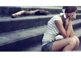 人,伤心,美女,楼梯,黑发,户外的女人,订婚戒指68613