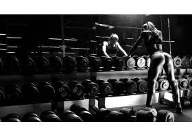人,体育,单色,美女,锻炼,大腿,腿,哑铃,健身房,健身模特,运动文胸