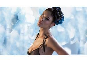 人,俯卧撑胸罩,黑色内衣,美女,模特,女用贴身内衣裤69147