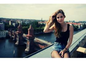 人,莉娜迈耶兰德鲁特,歌手,美女,德语,市容,牛仔短裤,户外的女人,