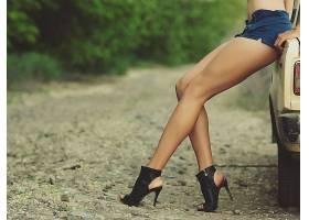 人,美女,腿,高跟鞋,短裤,户外的女人,汽车56541