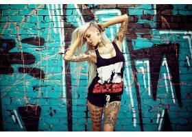 人,黥,金发,侧切,隧道,涂鸦,腋下,Sara Fabel,模特,长发,美女8096