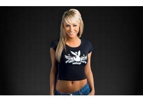 人,萨拉让安德伍德,美女,金发,微笑,简单的背景,模特22032