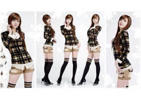 人,黄密熙,亚洲,美女,格子花呢,朝鲜的,大学,模特,短裤,膝盖高点,