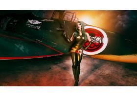人,美女,角色扮演,模特,枪,飞机,紧身衣,Hydra(漫画),有枪的女