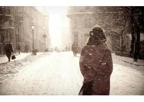 人,美女,雪,市,冬季,市容63052