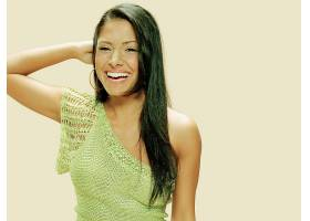 人,美女,黑发,笑,莎拉沙希,简单的背景,长发22031