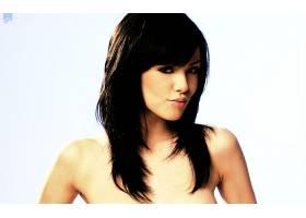 人,黑发,看着观众,美女,长发,简单的背景,Vikki吹12713