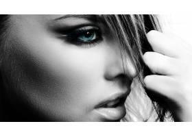 人,美女,选择性着色,眼睛,面对,模特67648