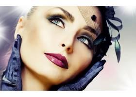 人,美女,面对,模特,手套,化妆3964