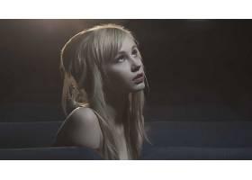 人,金发,美女,抬头看,长发,模特2567