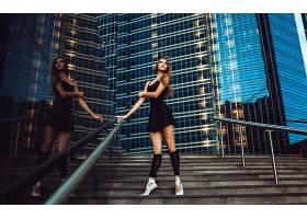 人,黑发,美女,芭蕾舞演员,楼梯,模特,城市的54186