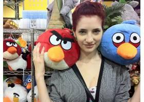 人,苏珊科菲,愤怒的小鸟,模特,红发,看着观众,美女21870