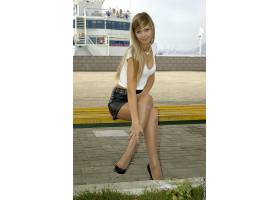 人,连裤袜,美女,金发,长凳,Vladmodels,坐在,模特39671