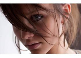 人,黑发,蓝眼睛,看着观众,面对,特写,美女14992