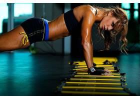 人,锻炼,枯瘦,体育,健身模特,看着观众,美女,模特4011