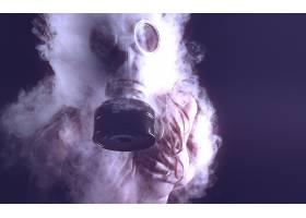 人,防毒面具,抽烟,举行胸部,战略覆盖,美女,模特3611