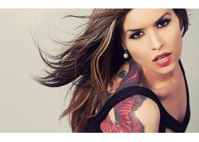 人,美女,黥,面对,模特,肖像,化妆70387