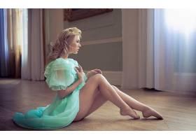 人,美女,金发,腿,在地上,模特,坐在70433