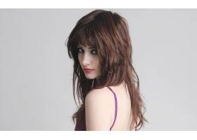 人,苏珊科菲,美女,看着观众,化妆,简单的背景,模特,红发,女用贴身