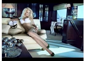 人,美女,金发,船,模特,白色女用贴身内衣裤,腿,长椅,帽子44489