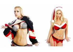 人,圣诞,金发,珍妮普桑,胸部,女用贴身内衣裤,美女,模特3469