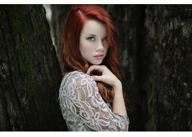 人,红发,美女,户外的女人,长发,模特29621