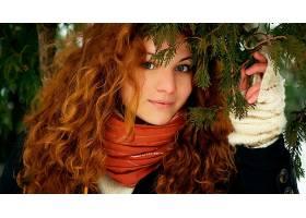 人,红发,美女,户外的女人29716