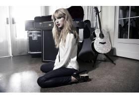 人,泰勒斯威夫特,名人,金发,美女,歌手,跪,看着观众,高跟鞋,吉他6