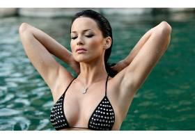 人,美女,湿,比基尼泳装,花花公子,Dasha Astafieva,项链,胸部,模