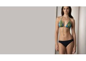 人,美女,模特,肚皮,黑发,比基尼泳装,看着观众,黑色内裤5961