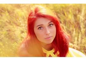 人,红发,户外的女人,绿眼睛,美女,面对,模特65725