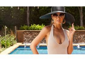 人,美女,游泳衣,Emmanuelle Chriqui,帽子,戴眼镜的美女,女帽,分